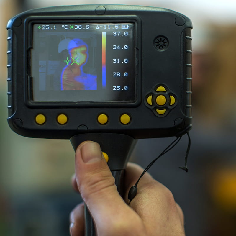 Thermal imaging camera screen