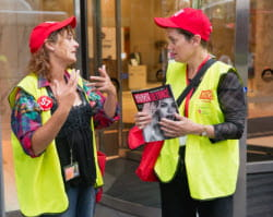 QBE Foundation Chair helps sell The Big Issue